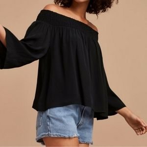 Off-the-Shoulder EUC Talula Wine Marcilly Blouse